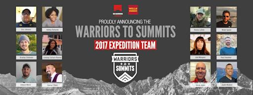 """Wells Fargo, No Barriers Warriors Announce the 2017 """"Warriors to Summits"""" Team"""