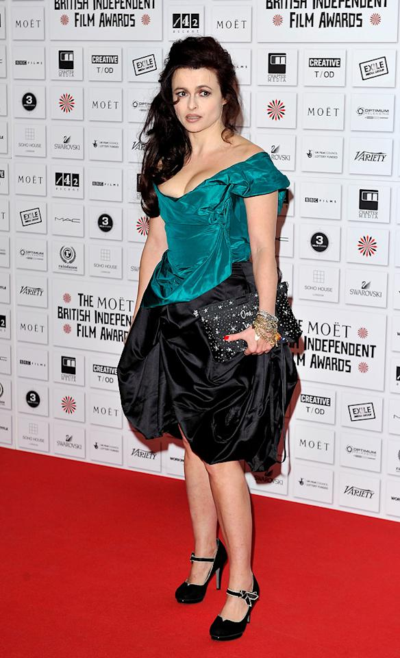 "<a href=""http://movies.yahoo.com/movie/contributor/1800018966"">Helena Bonham Carter</a> attends the Moet British Independent Film Awards on December 5, 2010."