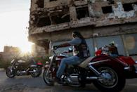 For members of the 120-strong Benghazi Motorcycles Club, biking is not only a passion, it's a way of portraying the city in a different light