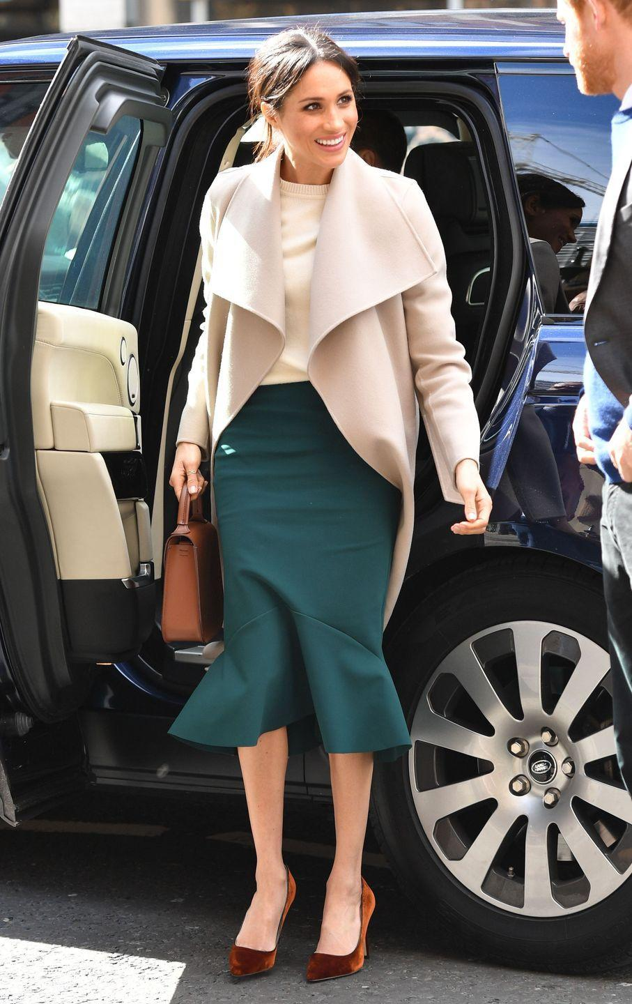 """<p>Speaking of bodysuits, <a href=""""https://www.thesun.co.uk/fabulous/7015284/duchess-effect-etiquette-secret-item-meghan-markle-kate-middleton-dresses-flashing-knickers/"""" rel=""""nofollow noopener"""" target=""""_blank"""" data-ylk=""""slk:etiquette expert Myka Meier said in an interview with The Sun"""" class=""""link rapid-noclick-resp"""">etiquette expert Myka Meier said in an interview with <em>The Sun</em></a> that Kate and Meghan often """"wear bodysuits and clothes that actually increase static so it's much hard[er] for something to fly up."""" Does this mean they're constantly giving each other static shocks or...? </p>"""