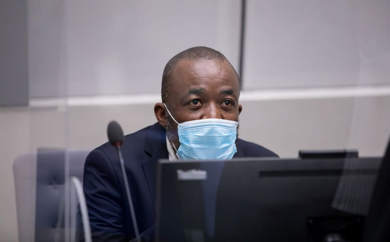 One of the alleged leaders of Central African Republic militias, Alfred Yekatom appears before the International Criminal Court (ICC) in The Hague