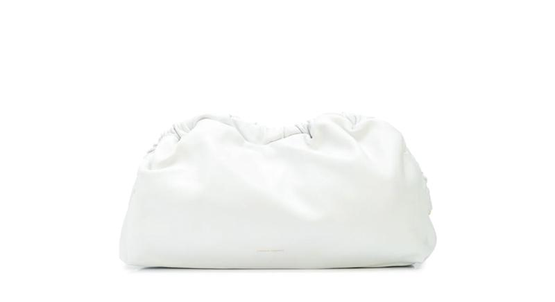 Mansur Gavriel Cloud textured clutch bag