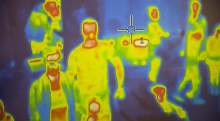 Thermal scanner / camera detecting infected people with Covid-19