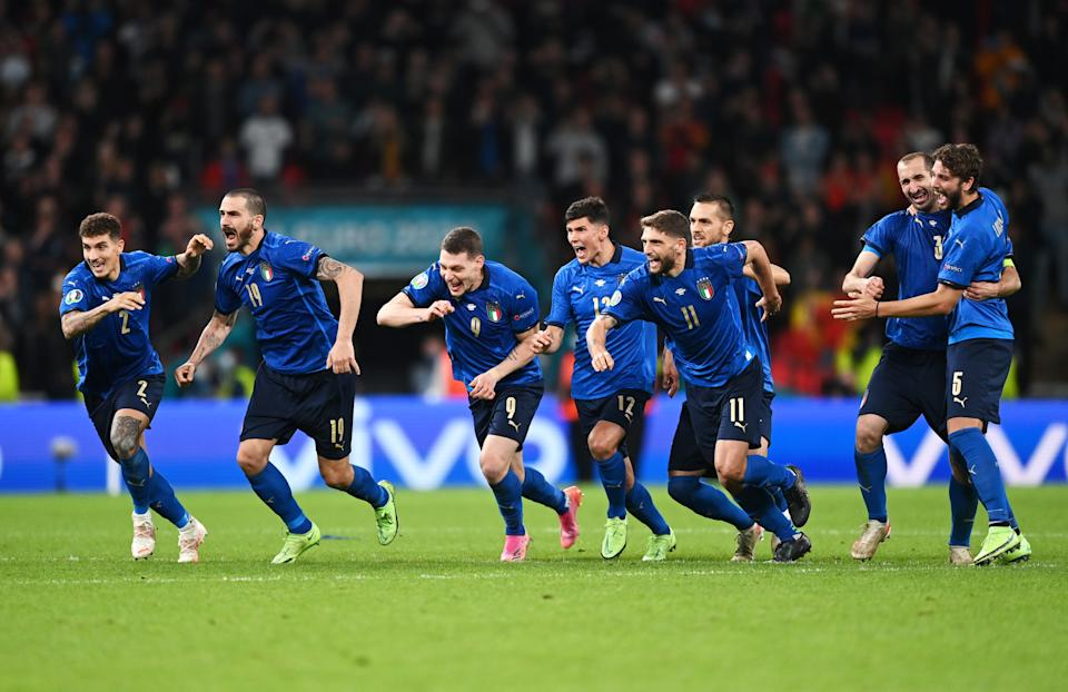 Italy beat Spain on Tuesday in the Euro 2020 semifinals by reaching back into the past. (Photo by Shaun Botterill - UEFA/UEFA via Getty Images)