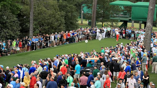 Preparations for the Masters continued to be disrupted as storms over Augusta caused Wednesday's practice to be suspended for 2 1/2 hours.