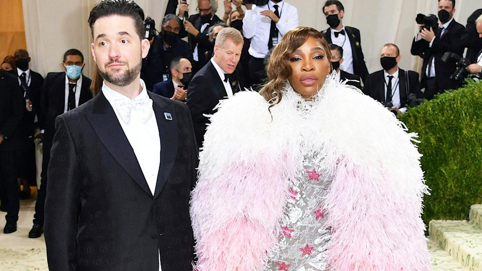 Serena Williams and husband Alexis Ohanian, pictured here at the Met Gala.