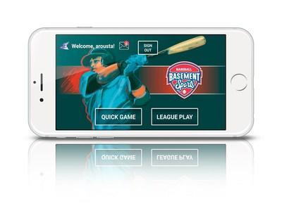 Basement Sports mobile app screen