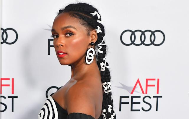 """US Actress/singer Janelle Monae arrives for the AFI Opening Night Gala premiere of """"Queen & Slim"""" at the TCL Chinese Theatre on November 14, 2019 in Hollywood. (Photo by Frederic J. BROWN / AFP) (Photo by FREDERIC J. BROWN/AFP via Getty Images)"""