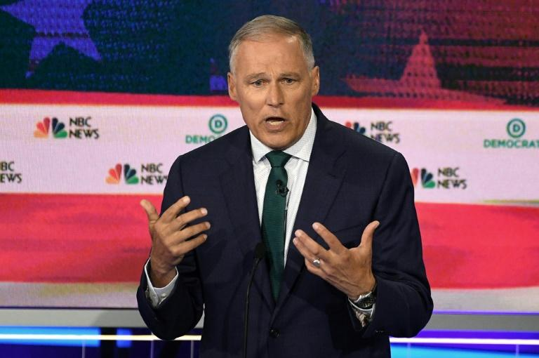 Among those who have left the Democratic presidential race is the governor of Washington state, Jay Inslee (AFP Photo/JIM WATSON)