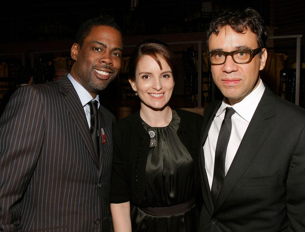 """Former """"SNL"""" stars Chris Rock and Tina Fey were joined by current cast member, Fred Armisen. Jemal Countess/<a href=""""http://www.wireimage.com"""" target=""""new"""">WireImage.com</a> - May 8, 2008"""