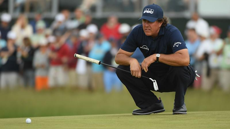 Phil Mickelson apologises for hitting moving ball in US Open meltdown