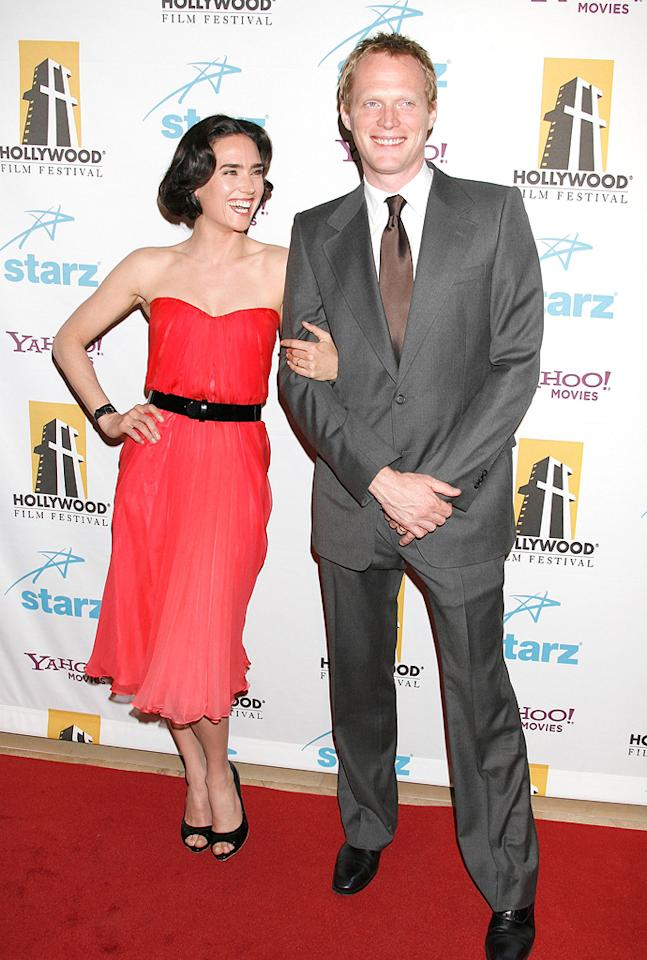 """<a href=""""http://movies.yahoo.com/movie/contributor/1800021142"""">Jennifer Connelly</a> and <a href=""""http://movies.yahoo.com/movie/contributor/1804462348"""">Paul Bettany</a> at the Hollywood Film Festival's Hollywood Awards in Beverly Hills - 10/22/2007"""