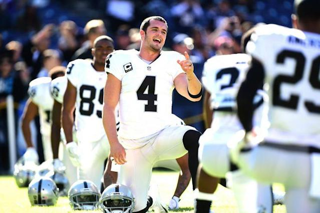 Derek Carr's contract is the new standard for franchise quarterbacks. (Getty)