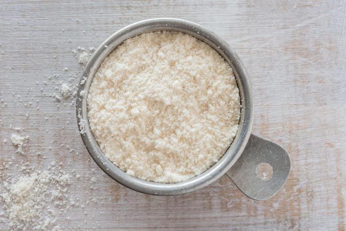 <p>Coconut flour, which is made from finely ground coconut, is huge among people following a ketogenic diet, as well as those who want to go gluten-free. But coconut flour is densely packed with calories and fat, Upton says. Just two tablespoons of the stuff contains 70 calories and and 3.5 grams of fat.</p>