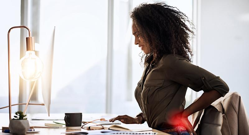 Are you struggling with back pain, or a numb bottom, when working from home? This top-rated seat cushion may be for you. (Getty Images)