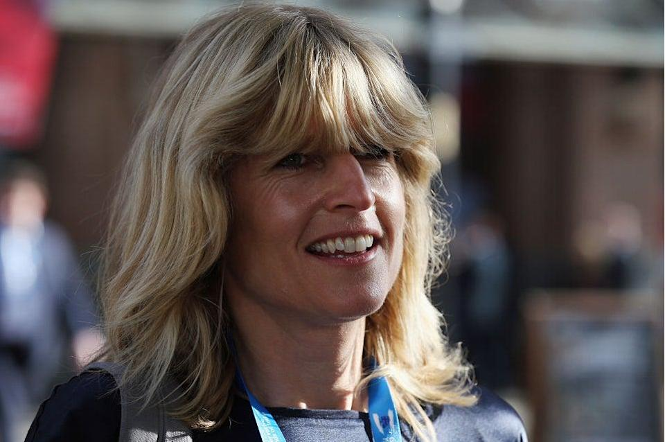 Sandbags prepped: Rachel Johnson arrives on the third day of the Conservative party conference on October 6, 2015 in Manchester. (Getty Images)
