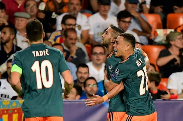 Hakim Ziyech and Dusan Tadic are leading Ajax's renewed assault on the Champions League (AFP Photo/JAVIER SORIANO)