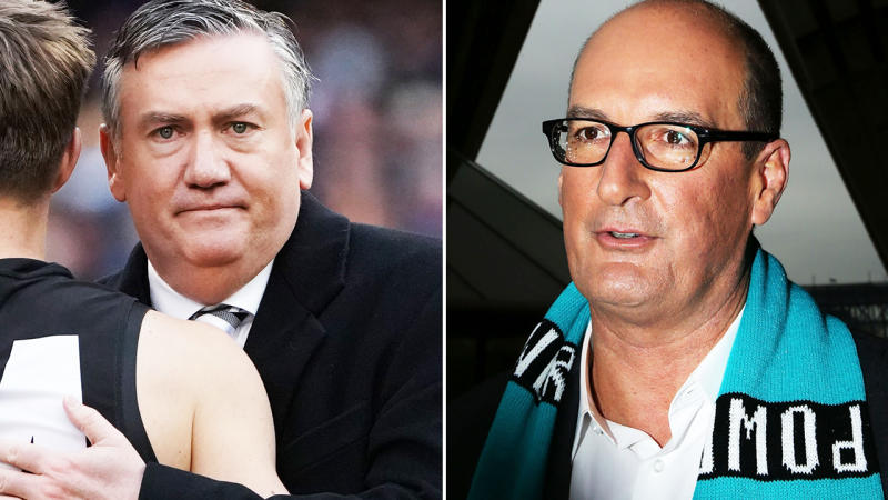 Eddie McGuire and David Koch, pictured here before their ugly spat.