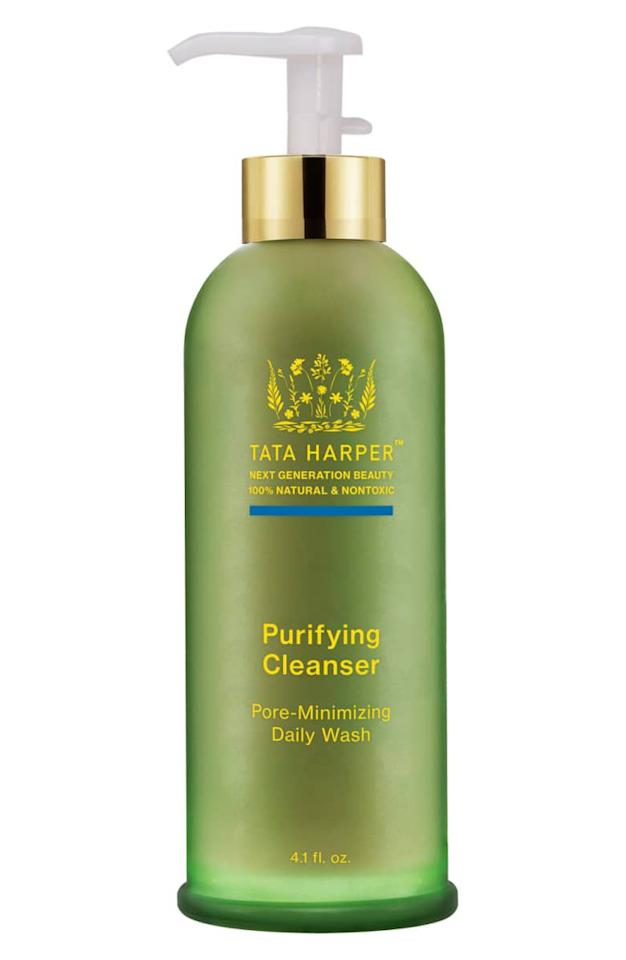 "<p><strong>Tata Harper</strong></p><p>sephora.com</p><p><strong>$70.00</strong></p><p><a rel=""nofollow"" href=""https://www.sephora.com/product/purifying-cleanser-P392144"">Shop Now</a></p><p>An all-natural cleanser featuring 17 high-performance ingredients like pomegranate and papaya enzymes to cleanse away surface impurities, dirt and debris without dehydrating the skin. When you rinse, skin will feel cool and refreshed and the scent is <em>divine. </em><em></em></p>"