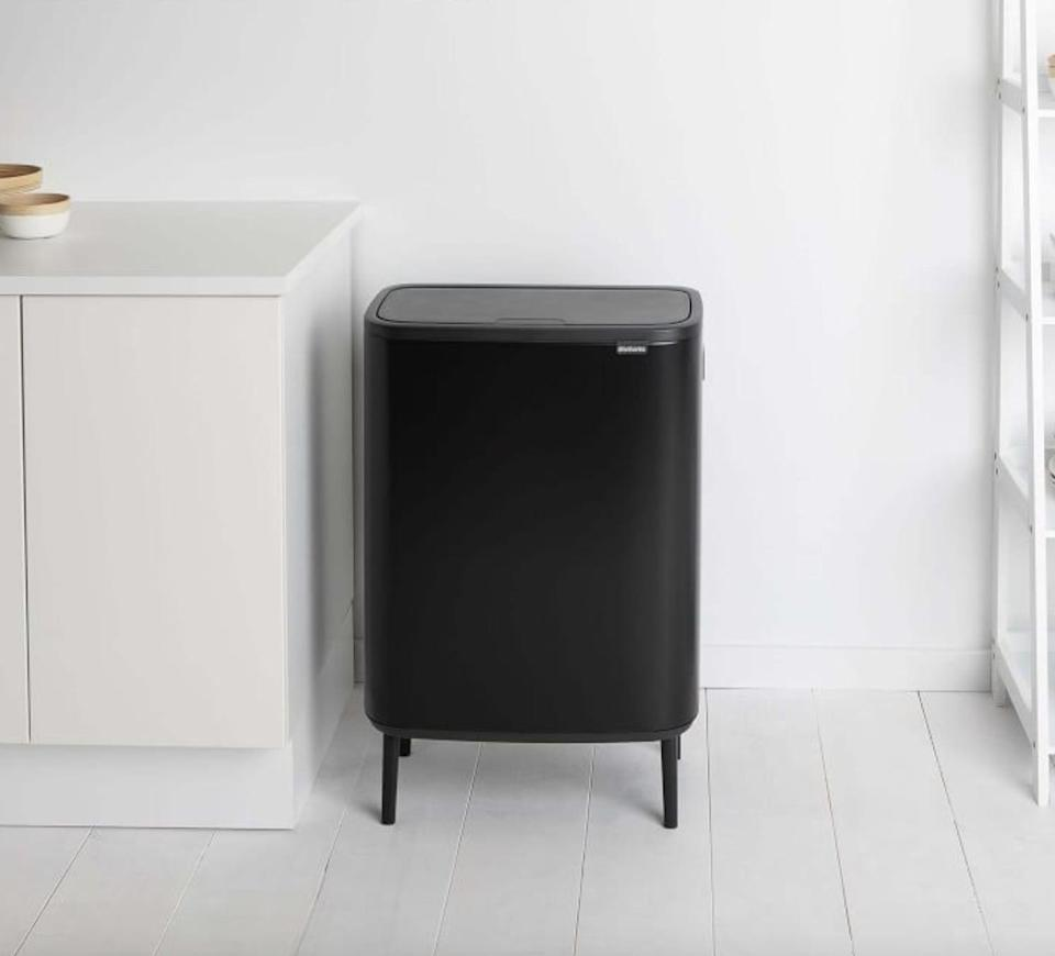 """<p>""""I can't stop raving about the <span>Brabantia Soft Touch Trash Can</span> ($220-$240). Brabantia has a number of modern-looking bins to choose from depending on what size, color, material, and function you're looking for, but the one I selected fit the following requirements: it's on the small side (we take out our trash once a week); it has two removable buckets, so we can separate our recycling; it opens with the press of a finger; and it has legs, so we don't have to bend down. We've had it for a few months now, and while it is a bit of a splurge for a trash can, I'm so happy we went with this one."""" - Tara Block, deputy editor</p> <p>If you want to read more, here is the <a href=""""https://www.popsugar.com/home/brabantia-bo-touch-bin-review-47451964"""" class=""""link rapid-noclick-resp"""" rel=""""nofollow noopener"""" target=""""_blank"""" data-ylk=""""slk:Brabantia Soft Touch Trash Can"""">Brabantia Soft Touch Trash Can</a> review.</p>"""