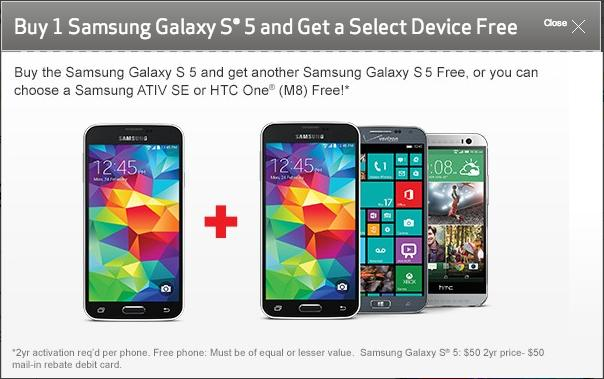 Samsung's Galaxy S5 isn't even out yet and you can already get one for free