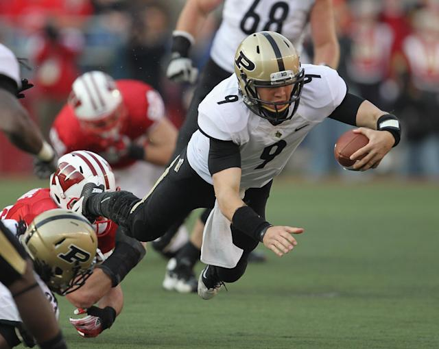 Robert Marve played three seasons at Purdue after transferring from Miami. (Photo by Jonathan Daniel/Getty Images)
