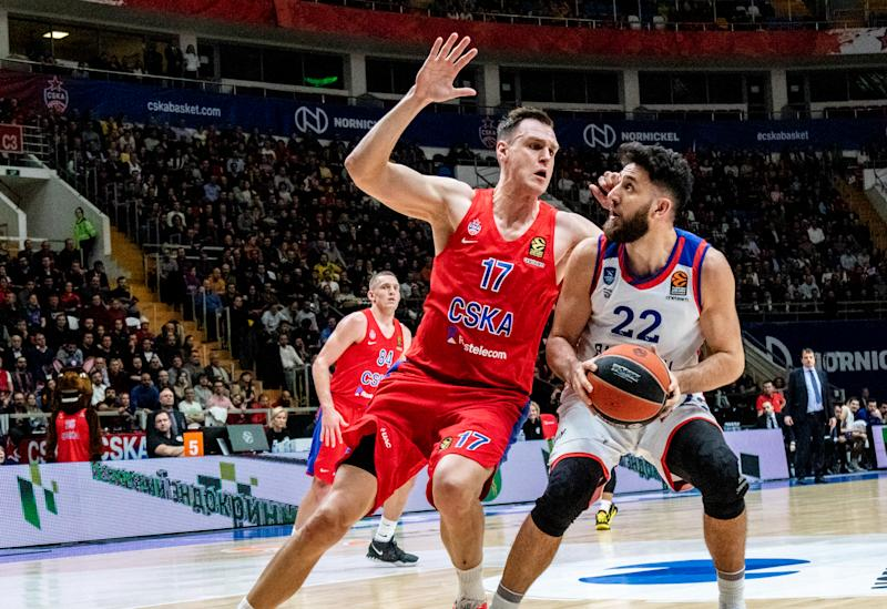 MOSCOW, RUSSIA - 2020/02/04: #22 Vasilije Micic of Anadolu Efes Istanbul plays against CSKA Moscow in Round 23 of the 2019/2020 Turkish Airlines Euroleague Regular Season at Megasport Arena. (Final score; Anadolu Efes Istanbul 82:80 CSKA Moscow). (Photo by Nicholas Muller/SOPA Images/LightRocket via Getty Images)