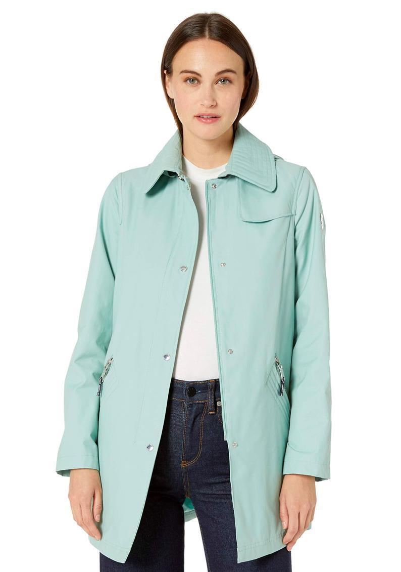 """Even if you're not going outside much, it's important to have a good rain coat on deck, and this mint green option will keep your spirits high on gloomy days. (Proud moody peeps: shop black instead). $71, Amazon. <a href=""""https://www.amazon.com/VINCE-CAMUTO-Womens-Hooded-Mid-Weight/dp/B07PWFG4P2//"""" rel=""""nofollow noopener"""" target=""""_blank"""" data-ylk=""""slk:Get it now!"""" class=""""link rapid-noclick-resp"""">Get it now!</a>"""