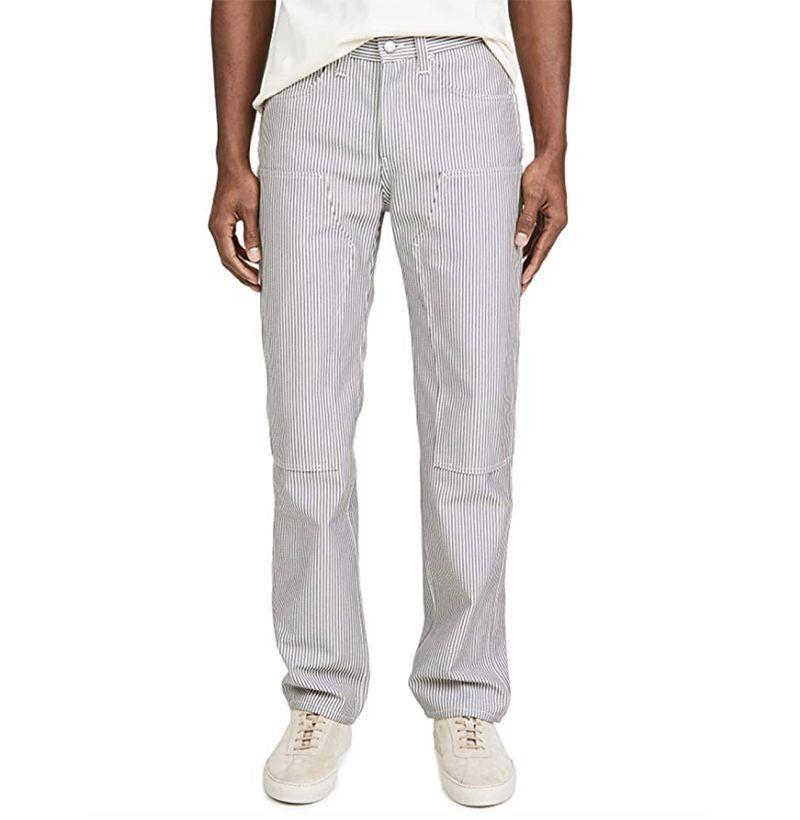 "<p><strong>Helmut Lang</strong></p><p>amazon.com</p><p><strong>$127.50</strong></p><p><a href=""https://www.amazon.com/dp/B084X6H7BV?tag=syn-yahoo-20&ascsubtag=%5Bartid%7C10054.g.32936561%5Bsrc%7Cyahoo-us"" rel=""nofollow noopener"" target=""_blank"" data-ylk=""slk:Buy"" class=""link rapid-noclick-resp"">Buy</a></p><p>Subtly-striped work pants with the perfect amount of slouch. </p>"