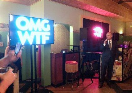 Michael Avenatti, the attorney for Stormy Daniels, and a critic of President Trump, speaks at a fundraiser for OMG WTF, a political action committee that raises money for Democratic candidates running for state offices in Ohio, Michigan, Georgia, Wisconsin, Texas and Florida in Los Angeles, California, U.S., September 20, 2018. REUTERS/Lisa Richwine