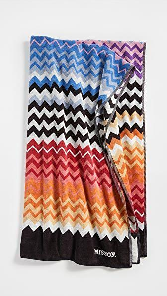 """<p><strong>Missoni Home</strong></p><p>shopbop.com</p><p><strong>$250.00</strong></p><p><a href=""""https://go.redirectingat.com?id=74968X1596630&url=https%3A%2F%2Fwww.shopbop.com%2Fstan-beach-towel-missoni-home%2Fvp%2Fv%3D1%2F1567741345.htm&sref=https%3A%2F%2Fwww.harpersbazaar.com%2Ffashion%2Fg32937637%2F30th-birthday-gift-ideas%2F"""" rel=""""nofollow noopener"""" target=""""_blank"""" data-ylk=""""slk:Shop Now"""" class=""""link rapid-noclick-resp"""">Shop Now</a></p><p>Gift a designer towel that she will feel excited about poolside. </p>"""