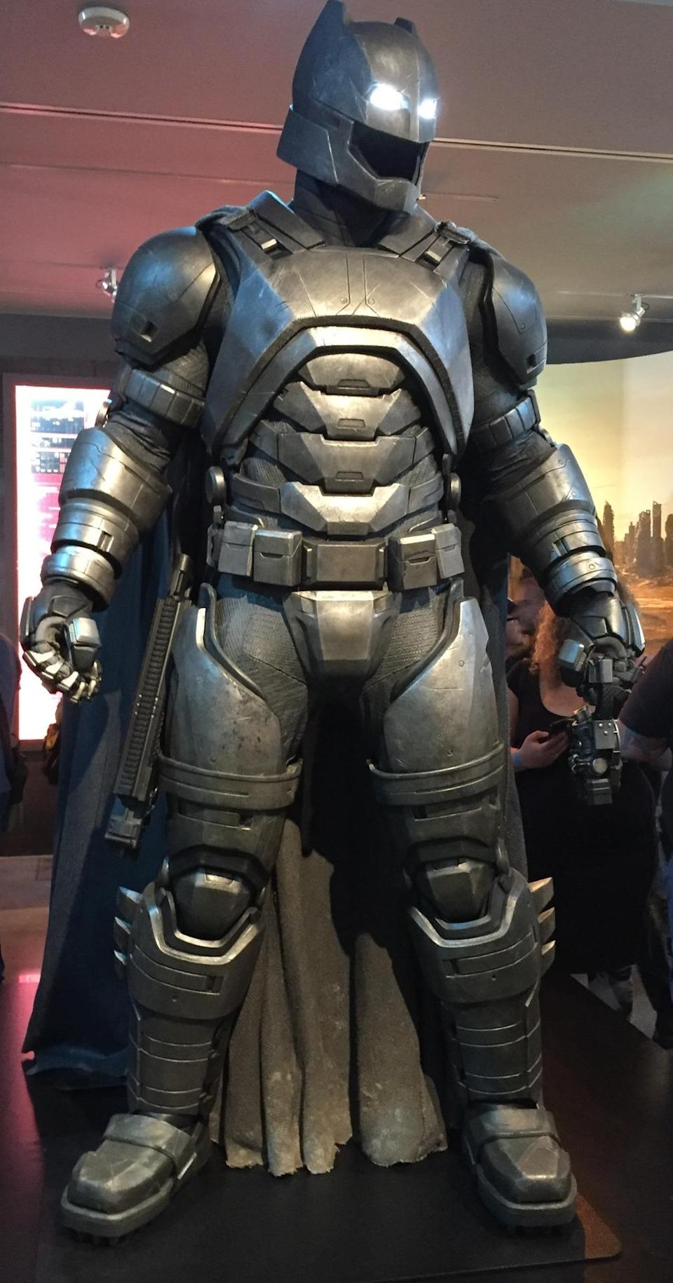 <p>Bruce Wayne borrowed a page from Tony Stark for this reinforced suit designed to take on Superman.</p>