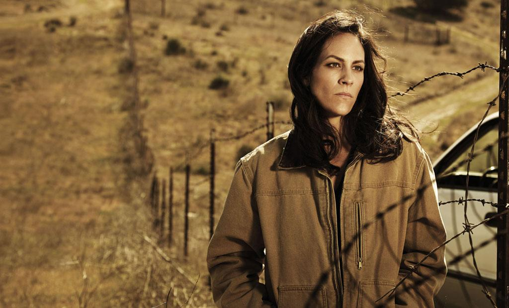 "Annabeth Gish as Charlotte Millwright in FX's ""The Bridge."""