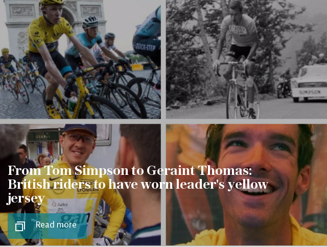 British riders to have worn leader's yellow jersey at the Tour de France