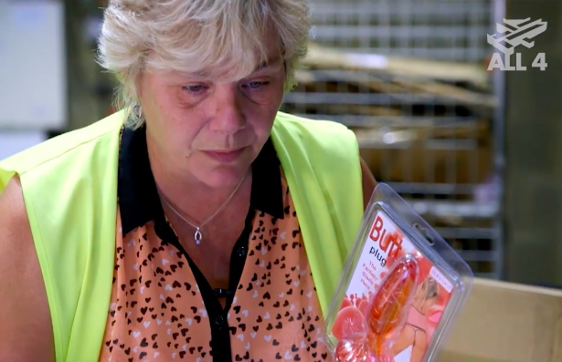 Jackie admits she's seen it all and wears gloves as a safety precaution. Source: Channel4