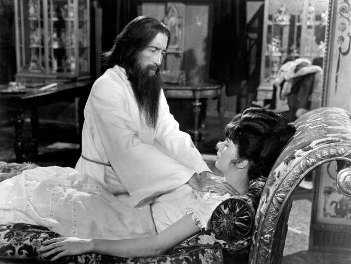 Christopher Lee and Barbara Shelley in Rasputin, The Mad Monk (Credit: 20th Century Fox/Hammer)