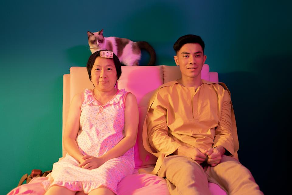 Mother and son, Mui (Goh Guat Kian) and Bee (Thomas Pang) in Tiong Bahru Social Club. (PHOTO: 13 Little Pictures)