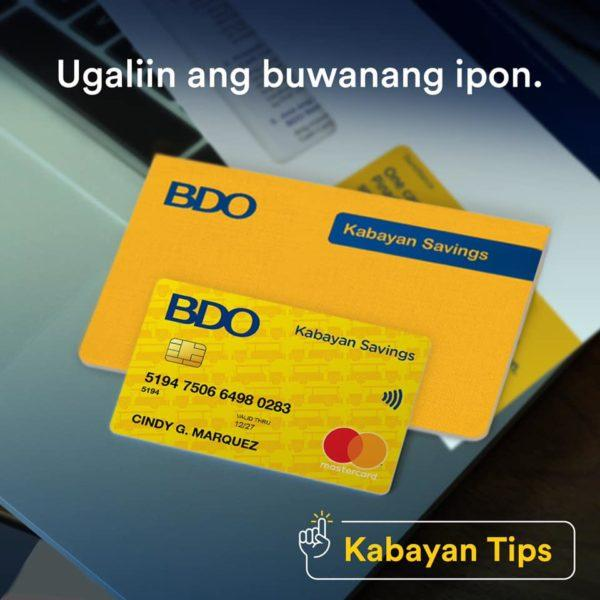 Savings Accounts with Low Maintaining Balance - BDO Kabayan Savings