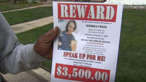 PHOTO: Kierra Coles' father is passing out flyers hoping to find his missing daughter in Chicago. She hasn't been seen since Tuesday, Oct. 2, 2018. (WLS)