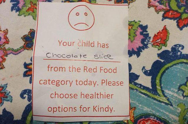 Picture: A SA mother was shamed for sending her child to kindergarten with a slice of cake. Melinda Tankard Reist/Facebook