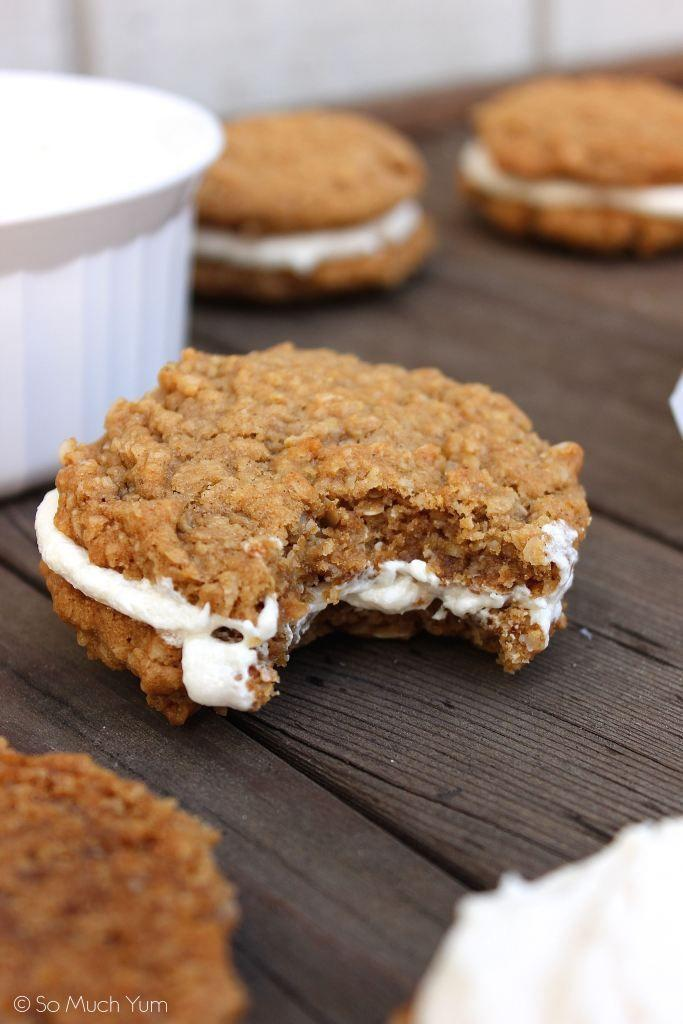 "<p>Much more sophisticated than the packaged snacks you ate as a kid, these cream-filled pies are a perfect post-turkey treat. </p><p><em><a href=""http://www.somuchyumblog.com/vegan-oatmeal-cream-pies/"" rel=""nofollow noopener"" target=""_blank"" data-ylk=""slk:Get the recipe at So Much Yum »"" class=""link rapid-noclick-resp"">Get the recipe at So Much Yum »</a></em> </p>"