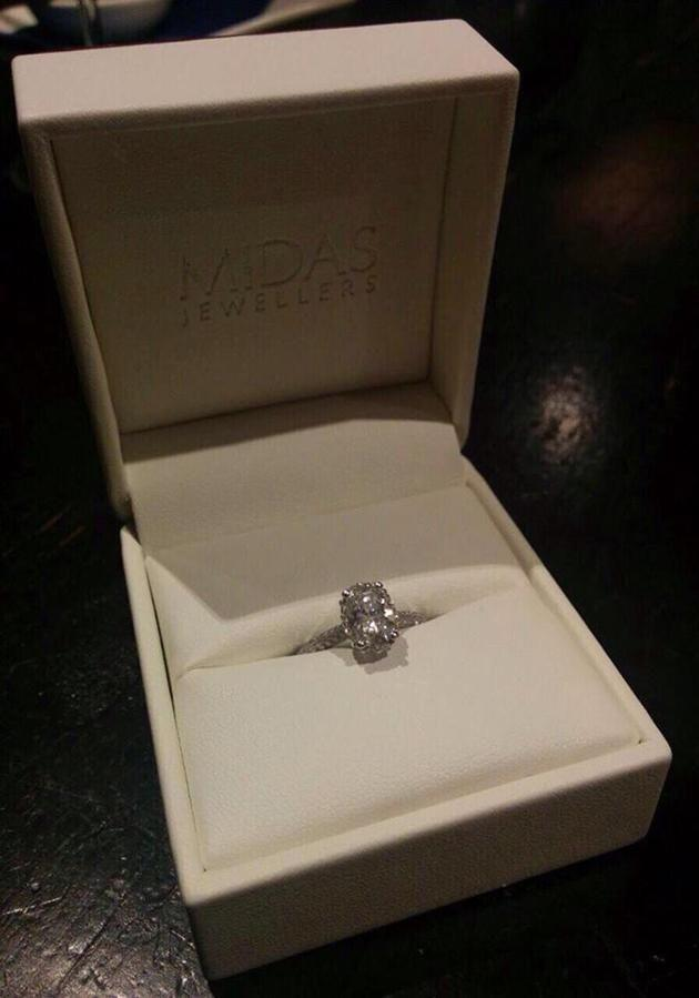 Her doubts about their relationship crept in about six months before the wedding. He had proposed with this stunning ring. Photo: Supplied