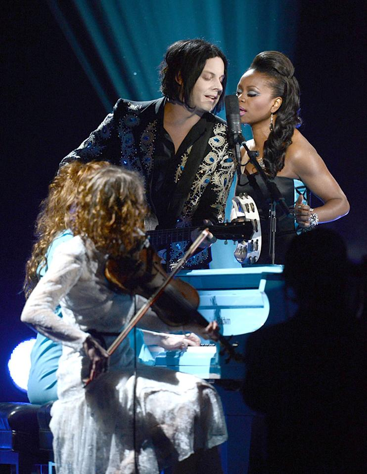 Jack White performs at the 55th Annual Grammy Awards at the Staples Center in Los Angeles, CA on February 10, 2013.