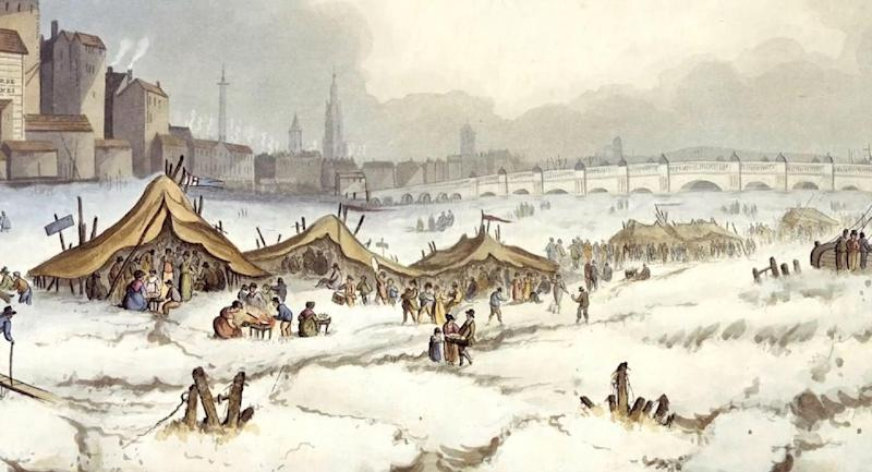 Frost fairs were once held on the River Thames. Pic: Museum of London