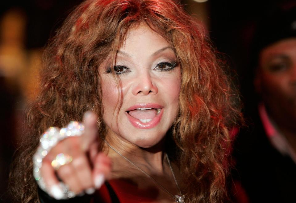 LaToya Jackson arriving for the Gala Premiere of Terry Gilliam's modern day fantasy adventure 'The Imaginarium Of Doctor Parnassus' at the Empire Leicester Square in central London.