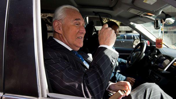 PHOTO: In this Nov. 15, 2019, file photo, Roger Stone leaves federal court in Washington. The Justice Department has sued former President Donald Trump's ally Stone. (Jose Luis Magana/AP, FILE)