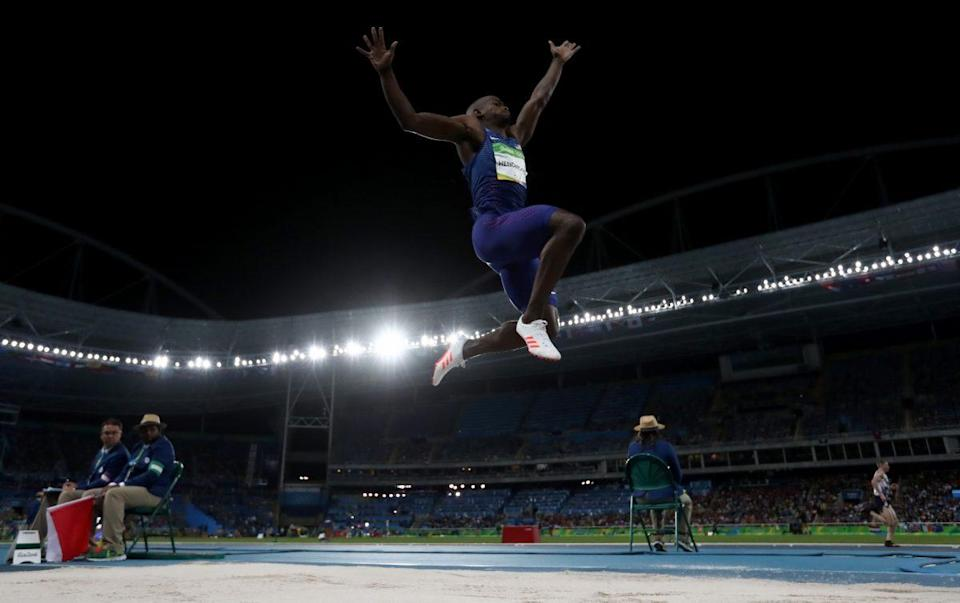 Jeff Henderson competes in the long jump at the Rio Olympics (Getty Images)