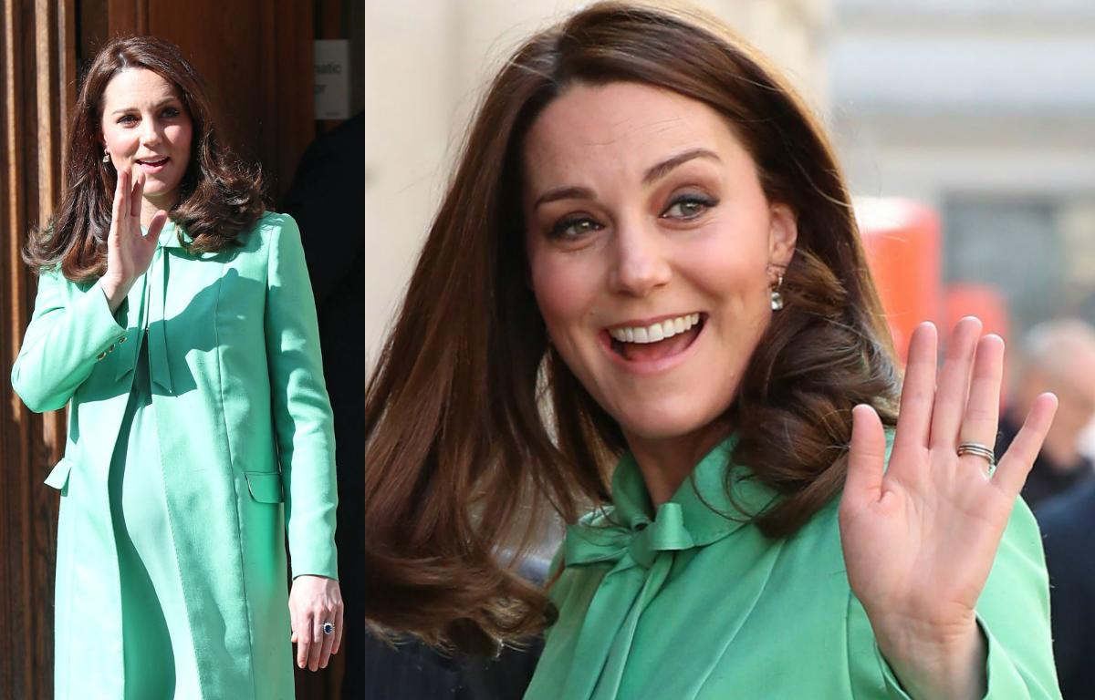 <p><strong>When: March 21, 2018</strong><br />The Duchess of Cambridge marked the beginning of spring in a fresh mint green coat as she co-hosted an event at the Royal Society of Medicine in London on Wednesday. According to Kensington Palace, the forum is meant to encourage early intervention into the lives of children, and bring together academics, researchers, practitioners, educators and charities to discuss perinatal, maternal and infant mental health. <em>(Photo: Getty)</em> </p>