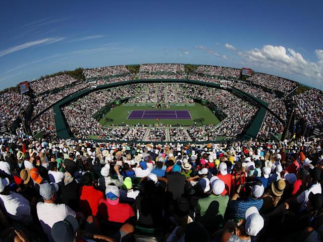Fans taking in the action at the Crandon Park Tennis Center (Getty)