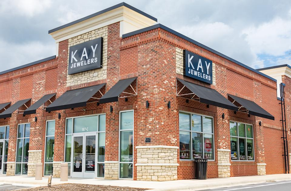 Statesville, NC, USA-June 19, 2019: A Kay Jewelers retail store building, a brand of Signet Jewelers, based in the U.K.